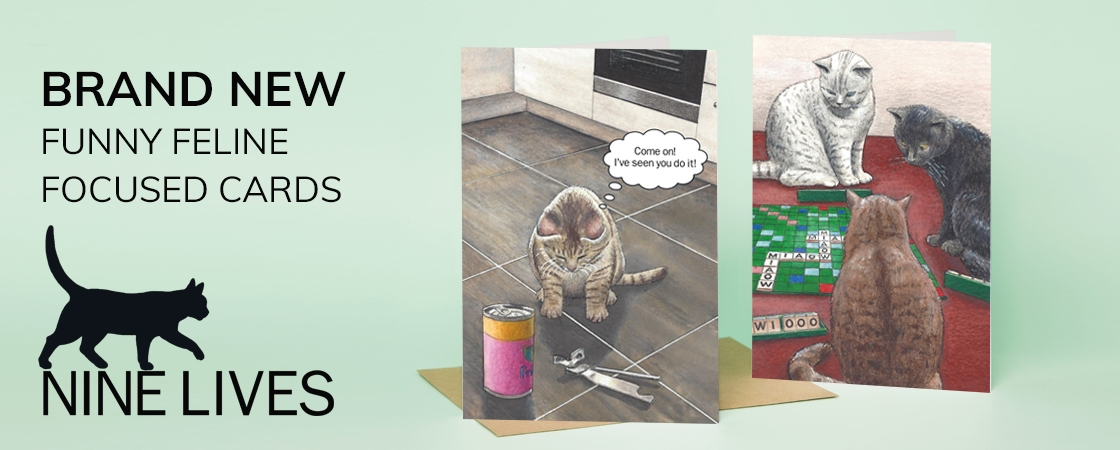 Nine Lives cat cards
