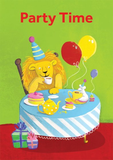 Lion And Mouse Greeting Card