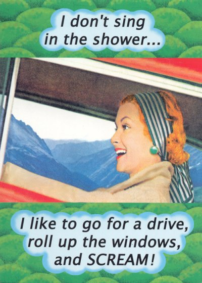 Go For A Drive Greeting Card