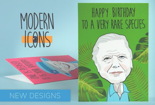 New additions to the Modern Icons greeting card range