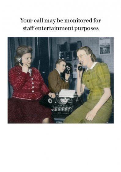 Call Monitored Greeting Card