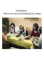 Avoid Talking By Eating