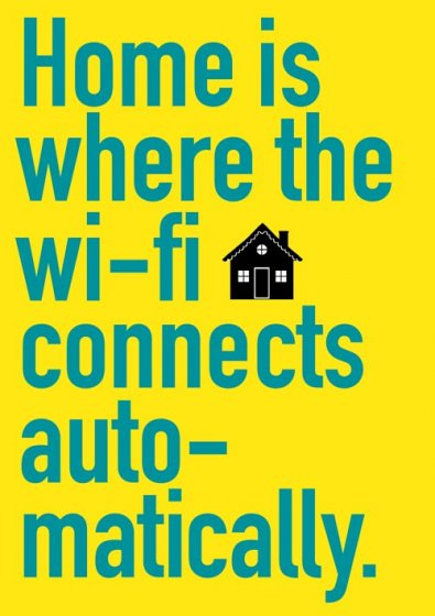 Home Is Where The Wi-fi Connects Greeting Card