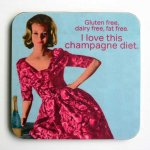 Champagne Diet Coaster