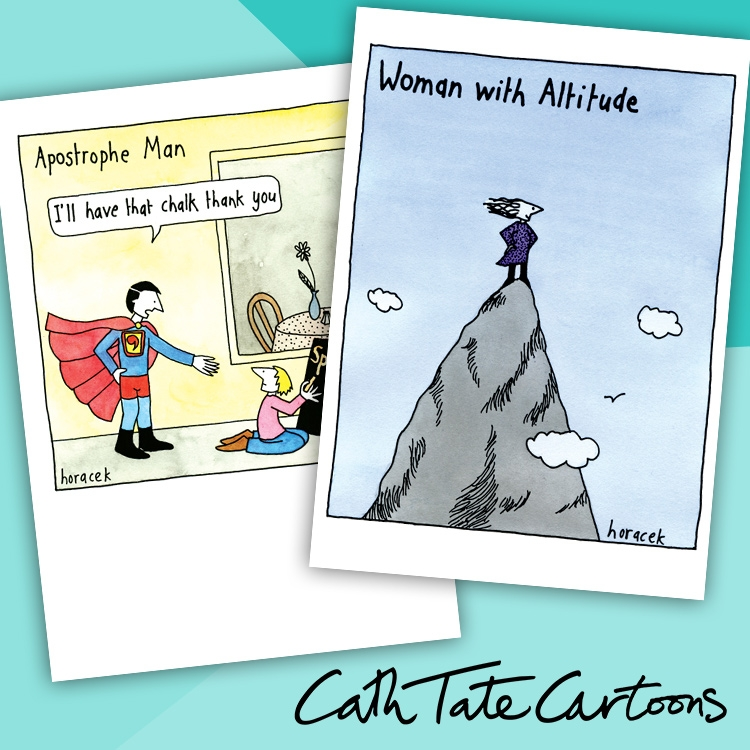 Cath Tate Cartoons range of greeting cards