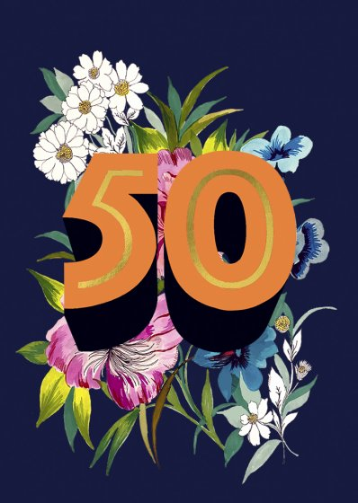 Fifty Age Card