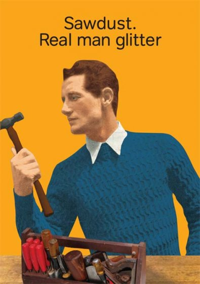 Real Man Glitter Greeting Card