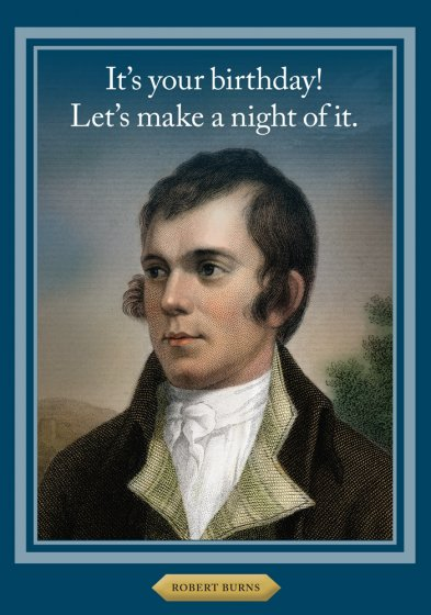 Robert Burns Greeting Card