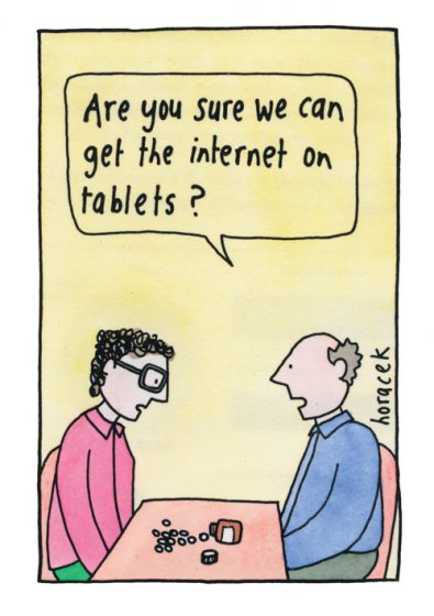 The Internet On Tablets Greeting Card