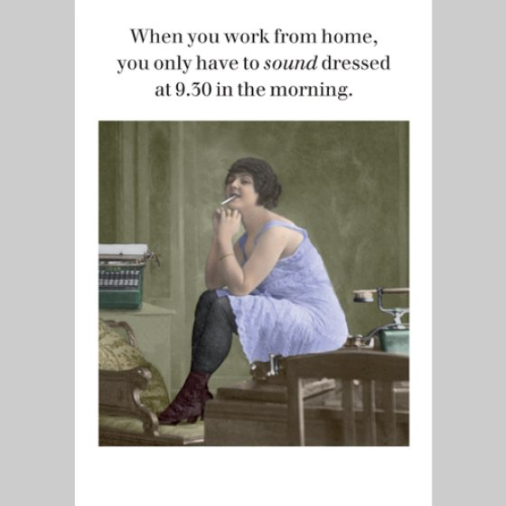 When You Work From Home Postcard