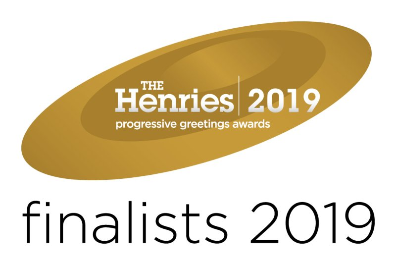 Cath Tate Cards shortlisted for the Henries awards