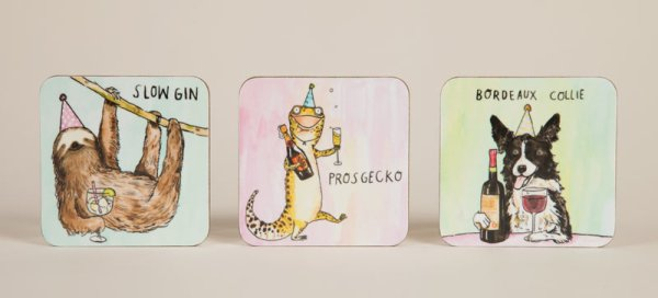New coasters from Cath Tate Cards