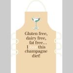 Champagne Diet Apron