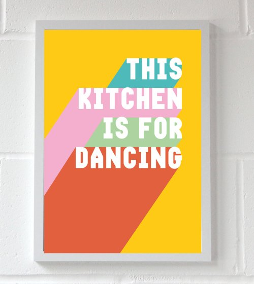 Dancing In The Kitchen Wall Print A3