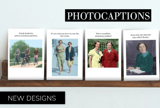 New Photocaptions greeting cards