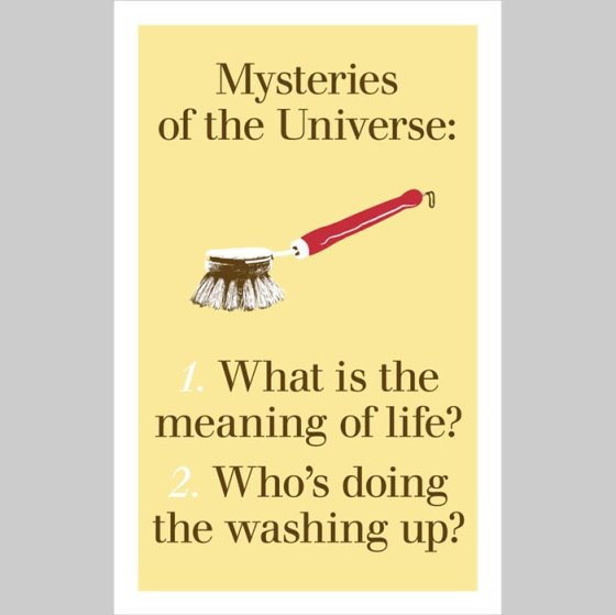Who's Doing The Washing Up?