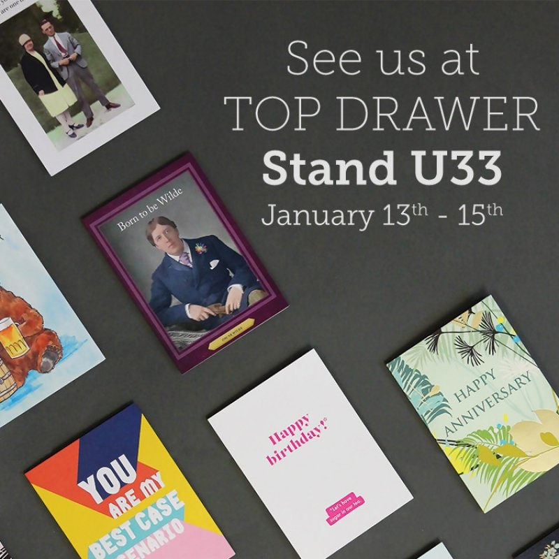 Cath Tate Cards at Top Drawer 2019