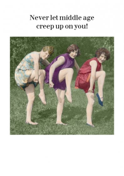 Creep Up On You Birthday Card