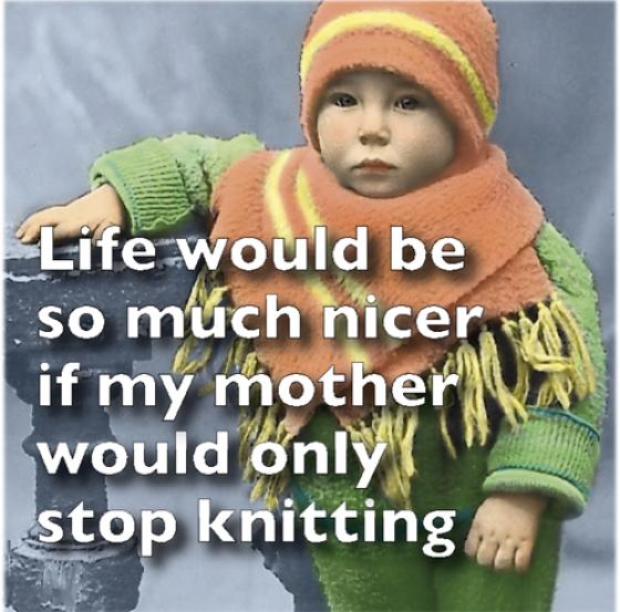 Stop Knitting Magnet
