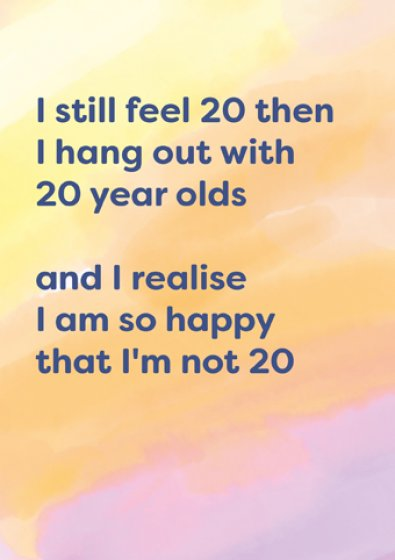 20 Year Olds Greeting Card