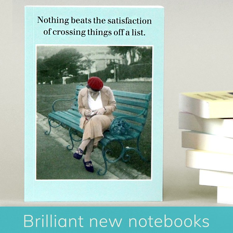 Funny notebooks with funny captions